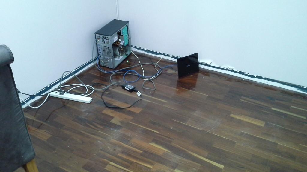 Server on floor