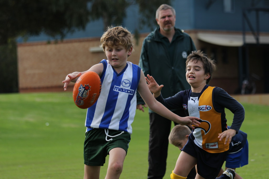 Jeremy gets a kick with Luke chasing