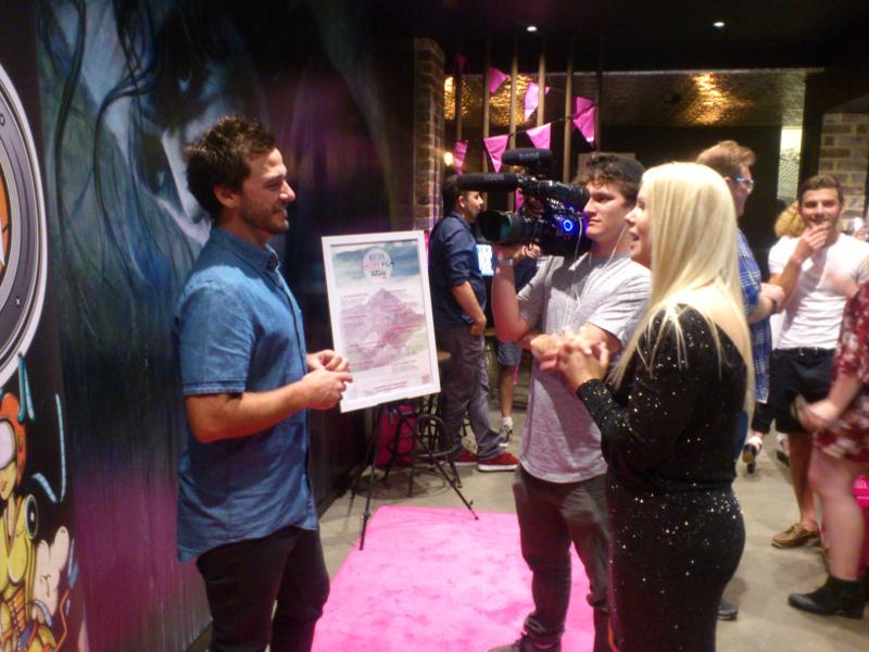 Josh Catalano being interviewed at NEXT GEN