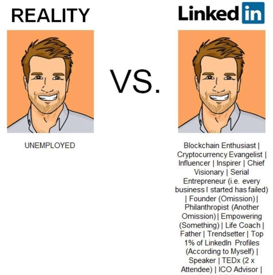 Reality versus LinkedIn