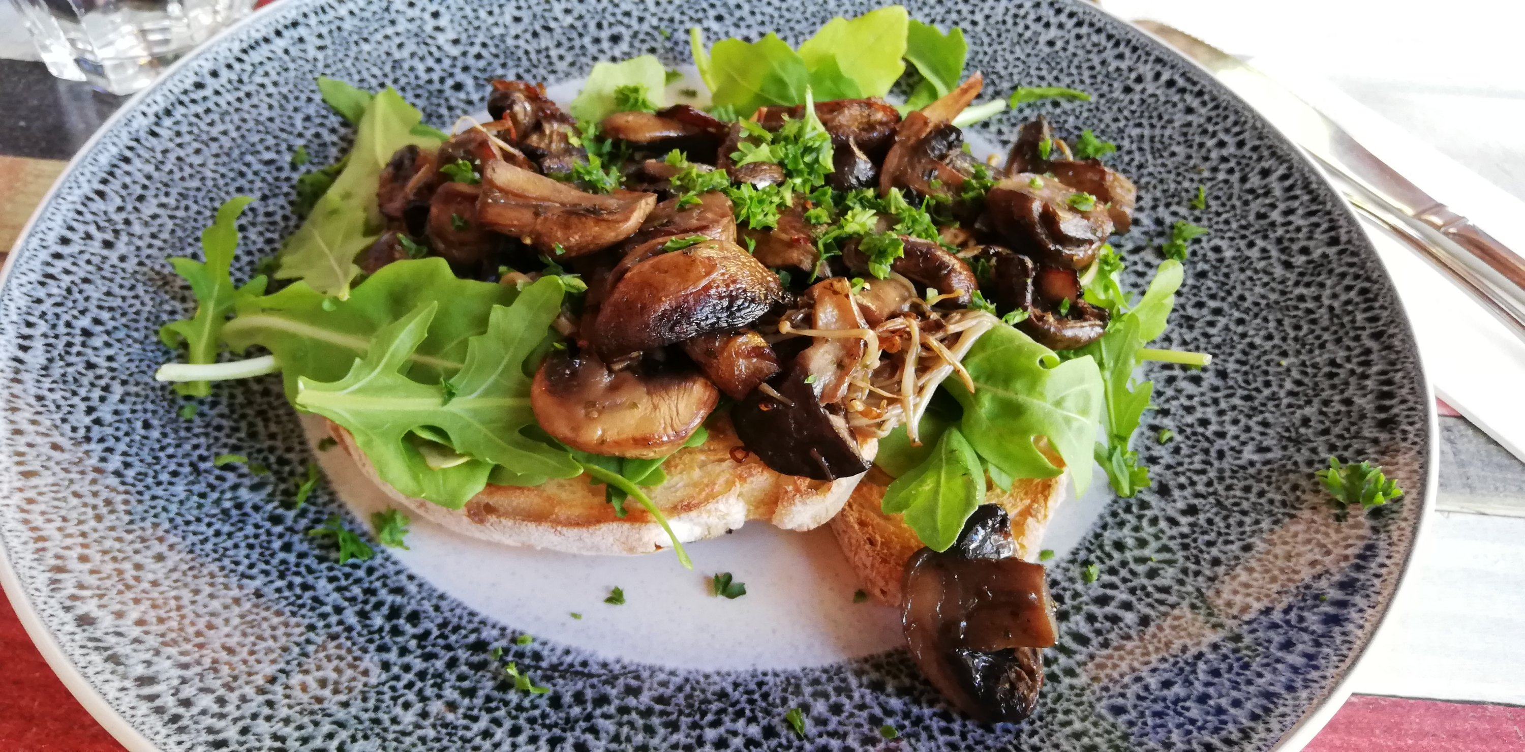 Hellenic Mushroom dish from the Ardross Street Cafe